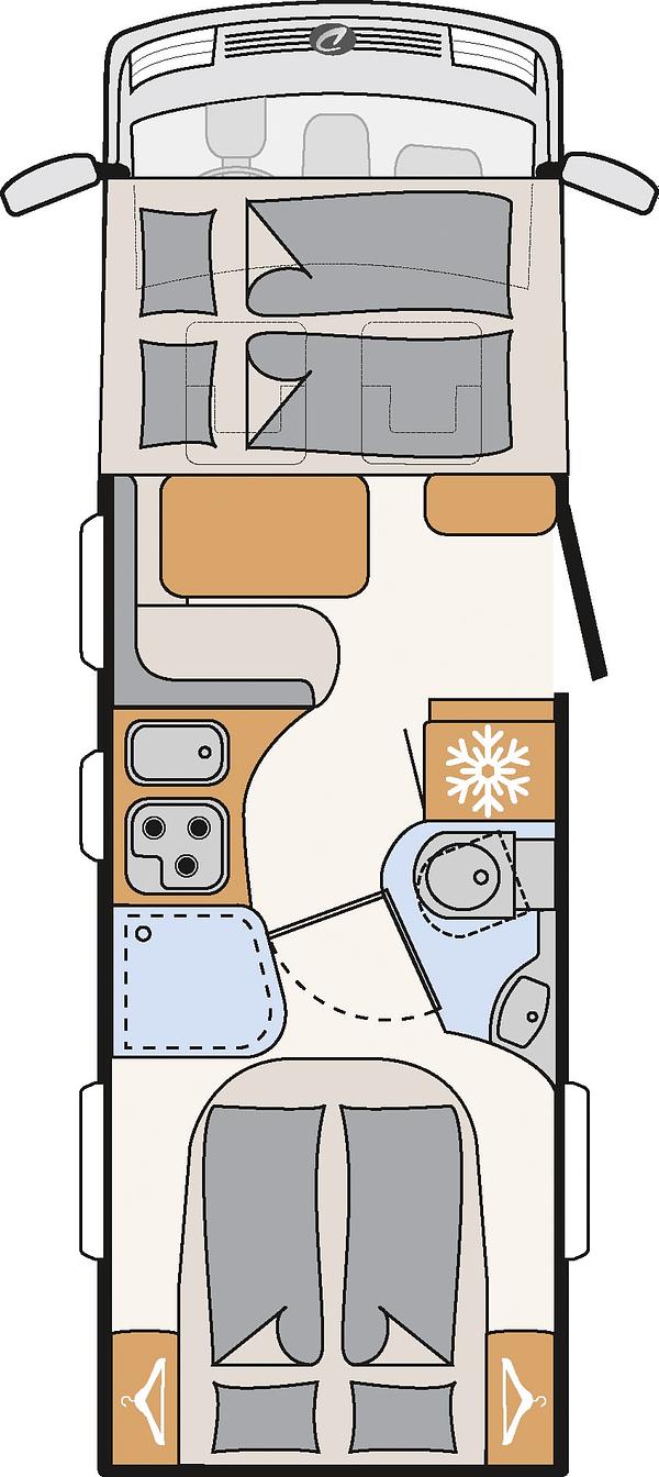 Globebus I7 Grundriss