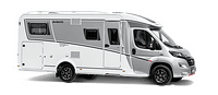 Globebus GT T6 in Silber und Weiß freigestellt