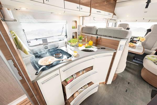 Dethleffs XLI7850EB Küche in Almeria Esche